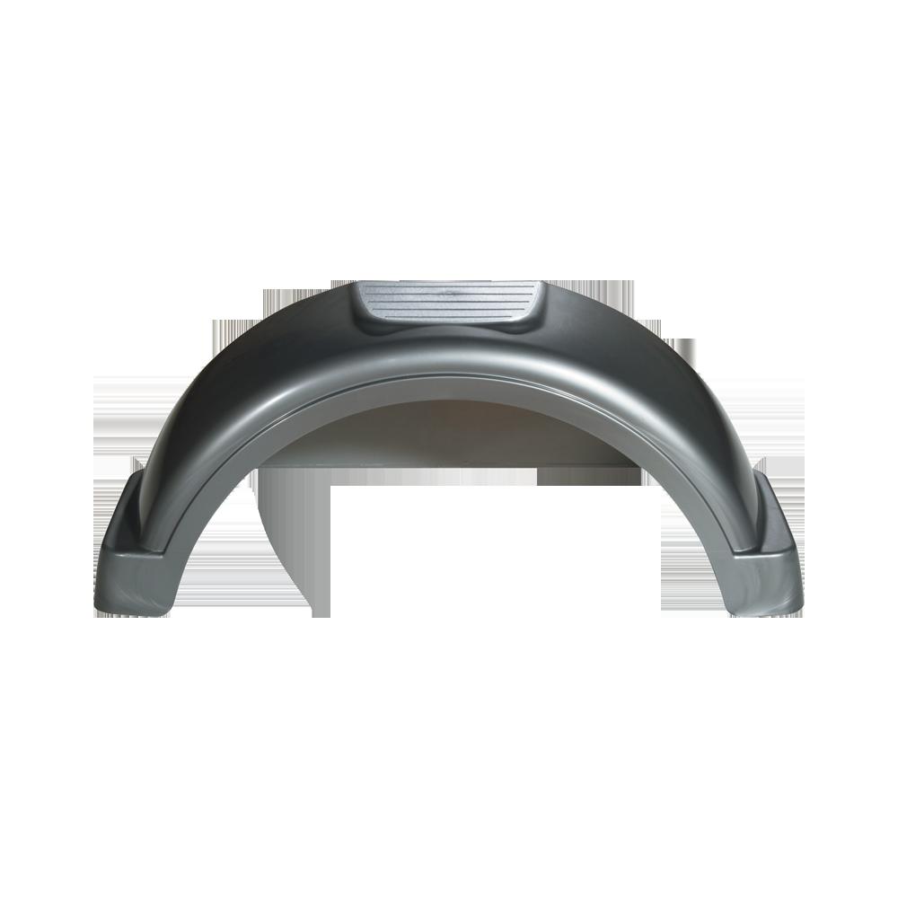 Trailer Fenders Aluminum : Fulton silver plastic trailer fender quot tire size