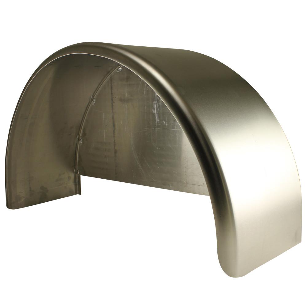 Aluminum Trailer Fenders : Single axle trailer fender w back plate welded in