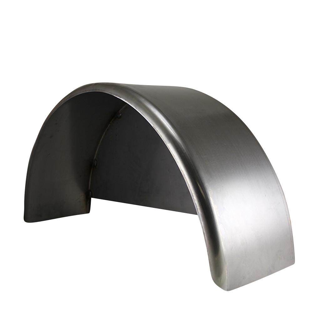 Aluminum Trailer Fenders : Single axle steel trailer fender w back plate