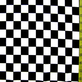 Black and white checker pattern fabric