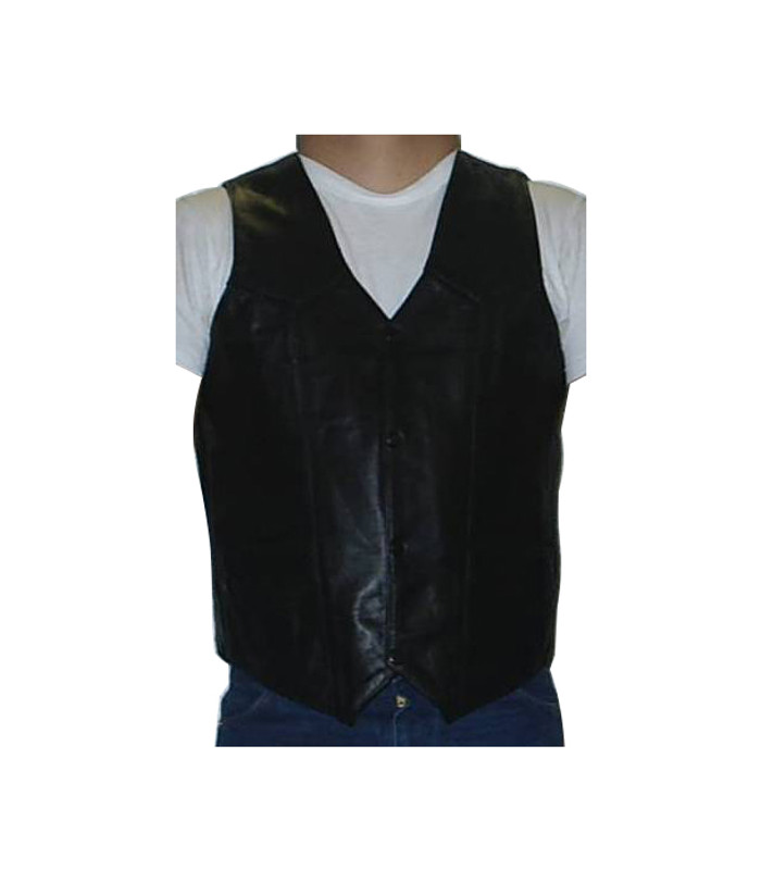 3050 MENS PLAIN BLACK VEST WITH PISTOL POCKET