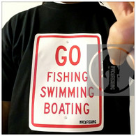 NYCeRULES - GO FISHING SWIMMING BOATING Tee (Black)