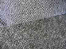 Brushed Lycra 4 Way Stretch Wicking Heather Gray Black And White Stripes