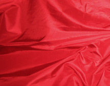 Nylon Taffeta Lining Knit Fabric Silky Shiny Finish Crimson Red