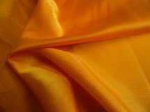 Nylon Taffeta Lining Knit Fabric Silky Shiny Finish Golden Yellow