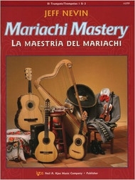 Mariachi Mastery features 12 classic mariachi tunes as well as a good deal of instructional material. Each song is preceded by exercises intended to help the student both improve in technique as well as learn the unique style of that song and mariachi in general. An accompaniment CD is included, which is invaluable for solo practice. The objective of this book is to have students sounding completely at home with the unique style by the end, and be able to blend in with a professional mariachi band. This book can easily be combined with books for other instruments, making a variety of ensembles possible. Trumpet Book, with CD. Edited by Sanchez. Published by Neil A. Kjos Music Company. Difficulty: Apprentice Rating 2