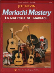 "Mariachi Mastery - Cello & Bass/Chelo & Contrabajo composed by Jeff Nevin. Orchestra. For cello & bass. Mariachi Mastery. Early Intermediate. Method book. Published by Neil A. Kjos Music Company. 12 classic mariachi songs are featured in this new bilingual method, Mariachi Mastery, from the Neil A. Kjos Music Company. Each song is preceded by graduated exercises to help your students learn to play in the correct style - from Ranchera Valseada to Son Jalisciense. The CD that comes with each student book is ideal for home practice use. Frequent ""Mastering Mariachi"" lessons will give your students the edge they need to sound like professional mariachi musicians! Songs include: De Colores, La Bamba, La Llorona, Tristes Recuerdos, and El Caballito!"