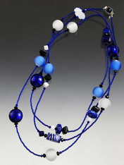 This sizzling cobalt and white ice rope is a year round  favorite!