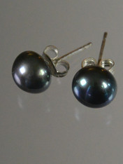 Peacock Pearl Stud Earrings
