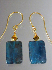 Kyanite 24K Swarovski 14K Earrings