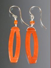 Tangerine Carnelian Dangle Earrings