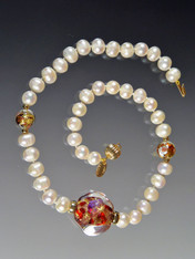 Grade AAA Pearls with Venetian 24K  Rare Sasso Collar