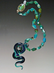 Rare Venetian Serpent Chrysocolla Necklace- ONE  OF A KIND