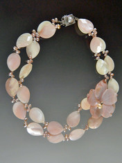 Petal Pink Mother of Pearl Pink Blossom Collar