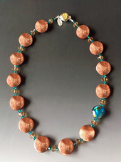 Goldstone Wave Venetian Bead - ONLY TWO