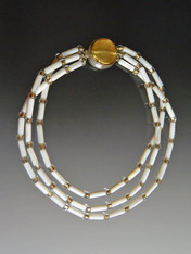 Mother of Pearl Venetian Gold Nesting Collar - ONLY TWO