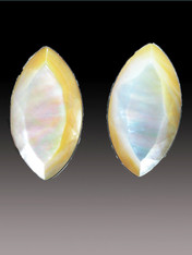 These Amy Kahn Russell mother-of-pearl earrings match all the colors in your wardrobe.