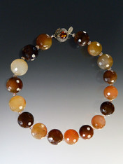 Earthtone Faceted Quartz Gumball Collar  - SOLD