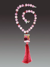 Venetian Arlecchino Wine Tassel Necklace