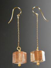 Brazilian Rose Quartz 14K Dangle Earrings SOLD