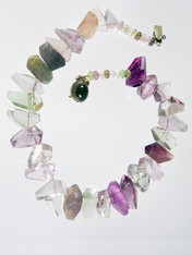 Faceted Fluorite Statement Collar