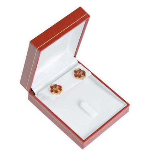 "Classic Style Earring/Pendant Box, 2 5/8"" x 3 1/8"" x 1 1/8"",  Choose from various Color"