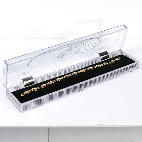 "Crystal clear Bracelet/watch box, 8 7/8"" x 2"" x 1 1/8""H"