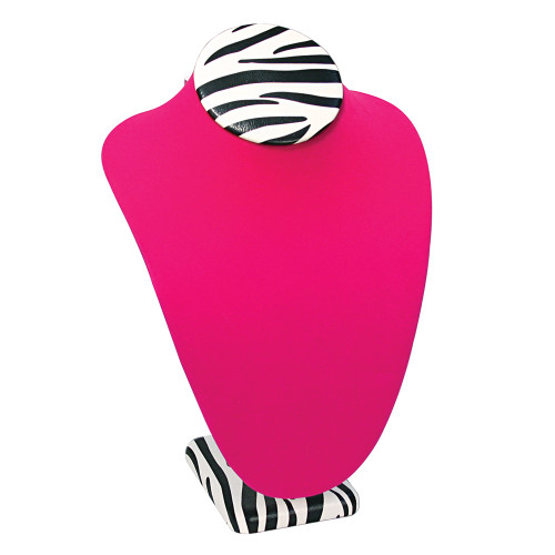 """Necklace Zebra display,7 1/2"""" x 5 1/8"""" x 11""""H, Choose from various color"""