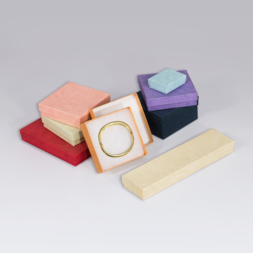 Assorted Pastel Cotton Filled Boxes (Choose from various sizes),mix 8 colors,  price for 100pcs