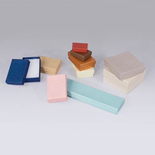 Assorted Embossed Cotton Filled Boxes (Choose from various sizes),mix 10 colors,  price for 100pcs