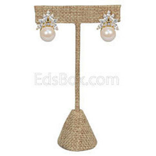 T-Shape Burlap Earring Display,(Choose from various sizes)