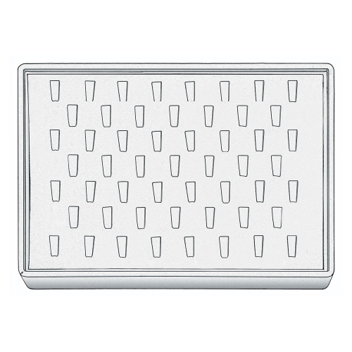 "Stackable Ring Tray, 12 1/2"" W x 8 3/4"" D x 1 7/8"" H RT1253 (WH)"