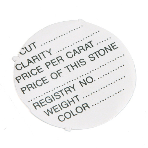 "Label for Gem Jar,1"" Dia., Non -Adhesive ,1000 Pieces/Pack"