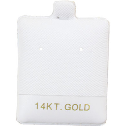 "Earring Puff Card (14K Gold BX595-1) 1 1/2""x 1 3/4"""
