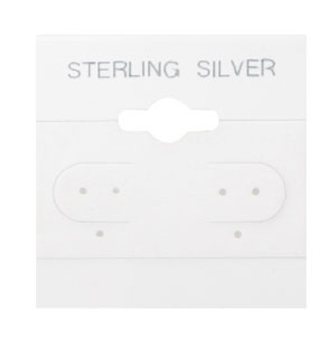 "Hanging Earring Card (Sterling Silver BX578-S) 1 1/2""x 1 1/2"""