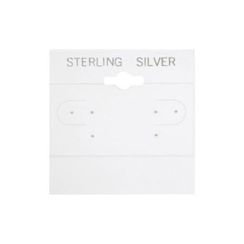 "Hanging Earring Card (Sterling Silver BX579-S) 2""x 2"""
