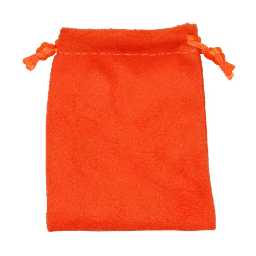 """4"""" x 5"""",Orange Suede Drawstring Pouch, price for Dozen,Buy More Save More"""