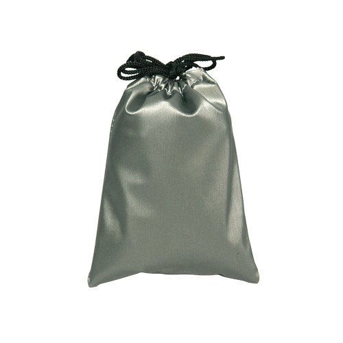 """2 3/4"""" x 3"""",Steel-Grey Leather Drawstring Pouch,price for Dozen,Buy More Save More"""