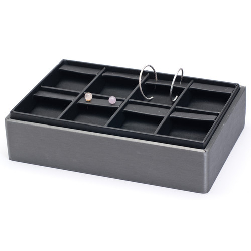 "2"" H Stackable Earring Tray,  9"" x 6"" x 2 1/8"" H F66-78R"