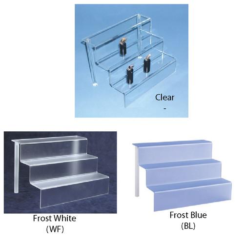 "Acrylic mini-stair display (1/8"" thick) ,9"" x 6 1/8"" x 6""H"