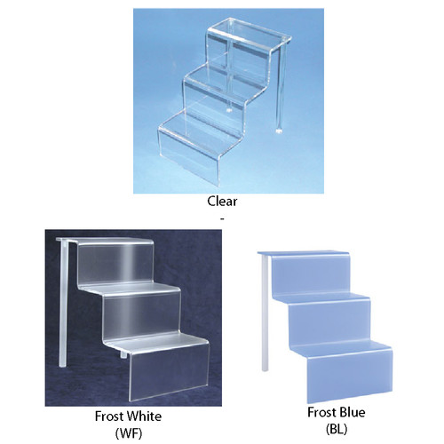 "Acrylic mini-stair display (3/16"" thick) ,6"" x 9"" x 9""H"