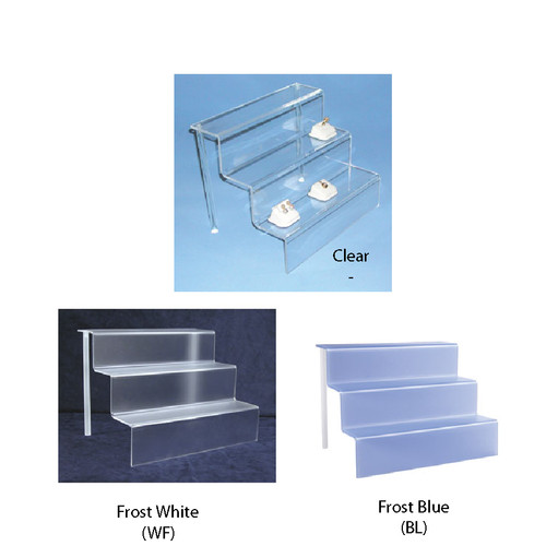 "Acrylic mini-stair display (3/16"" thick) ,12"" x 9"" x 9""H"