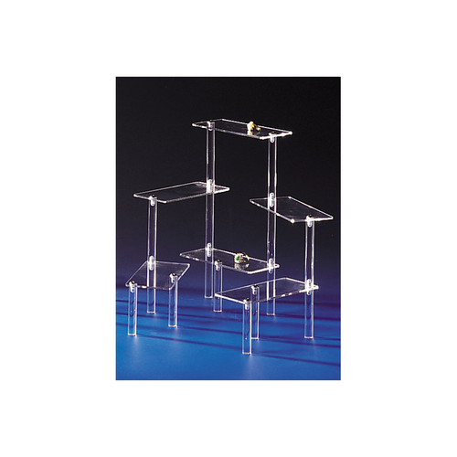 """Acrylic Multi-Platform Display, 10 1/4""""H,Assemble Required"""