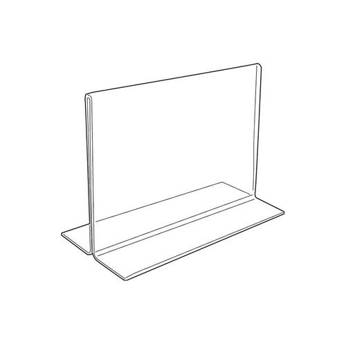 "Acrylic Sign Holder,2 Side Upright, 7"" x 5"""