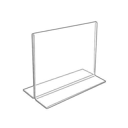 "Acrylic Sign Holder,2 Side Upright, 7"" x 5 1/2"""