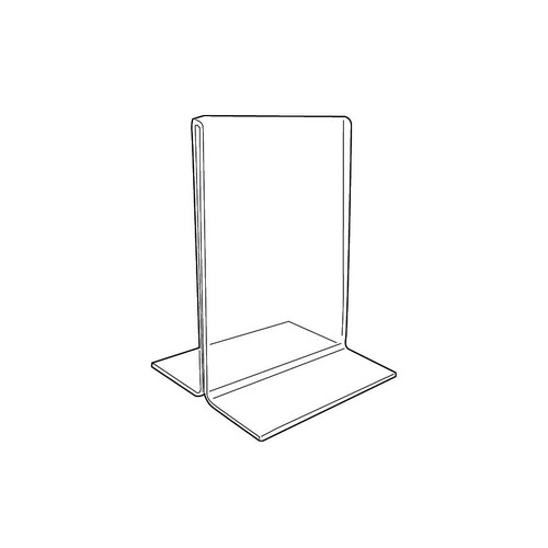 "Acrylic Sign Holder,2 Side Upright, 3 1/2"" x 5 1/2"""