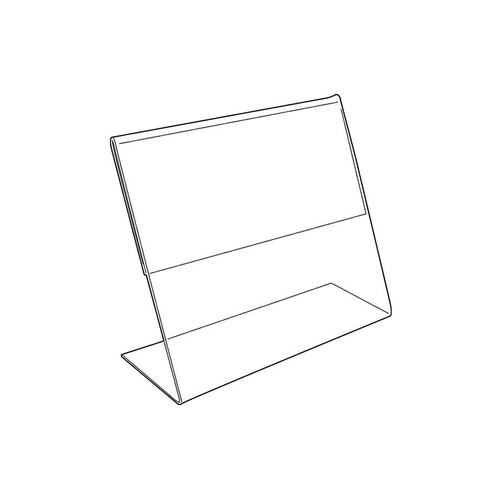 "Acrylic Sign Holder,1 Side Slant Back, 7"" x 5"""