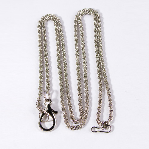 "Loupe Chain, 30"" L, Silver-Color"