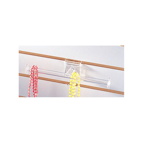 """Acrylic Slatwall T-Bar, 10"""" W, Assembly Require"""