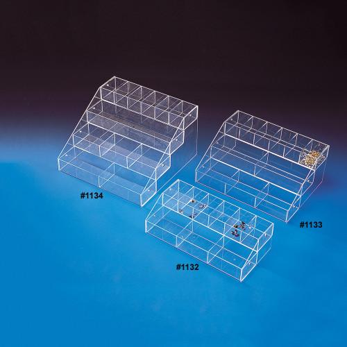 "Acrylic Multi-Tier Bin Organizer, 16"" x 8"" x 4 5/8""H, Assemble Requiresd"